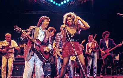 LONDON - JUNE 20: Paul McCartney and Tina Turner performing on stage at The Prince's Trust 10th Birt...