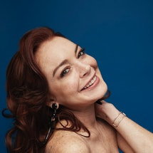 BILBAO, SPAIN - NOVEMBER 04:  Lindsay Lohan poses at the MTV EMAs 2018 studio at Bilbao Exhibition C...