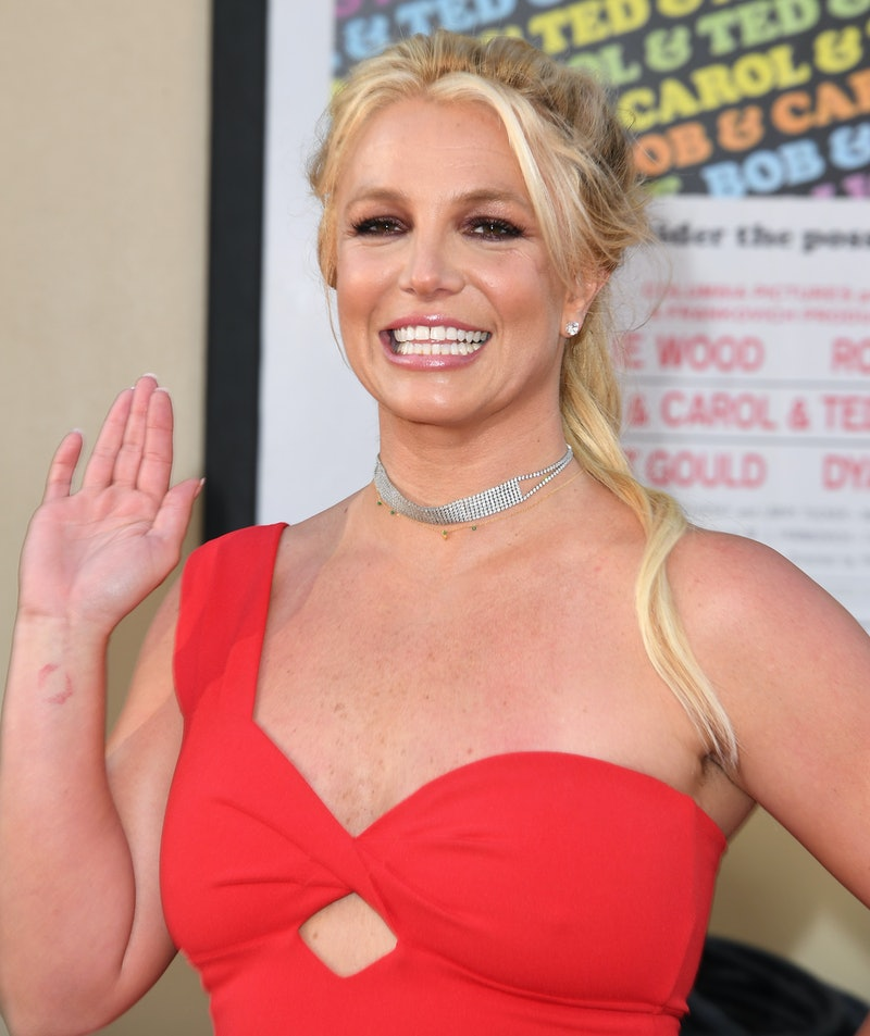"""HOLLYWOOD, CALIFORNIA - JULY 22: Britney Spears arrives at the Sony Pictures' """"Once Upon A Time...In..."""