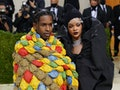 Rihanna and ASAP Rocky at the 2021 Met Gala.