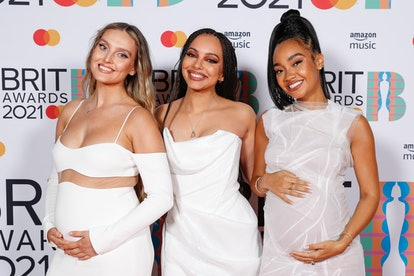 LONDON, ENGLAND - MAY 11: Perrie Edwards, Jade Thirlwall and Leigh-Anne Pinnock of Little Mix pose i...