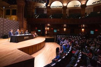 PRINCETON, NJ - OCTOBER 06: Princeton University professor David W.C. MacMillan attends a press conf...