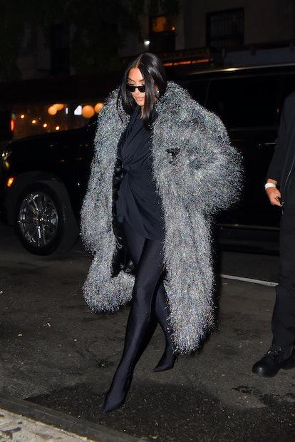 Kim Kardashian arrives at Lattanzi Cucina Italiana