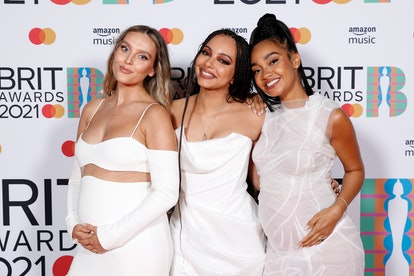 LONDON, ENGLAND - MAY 11: Leigh-Anne Pinnock, Jade Thirlwall and Perrie Edwards of Little Mix pose i...
