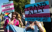 LONDON, UNITED KINGDOM - SEPTEMBER 14: Transgender people and their supporters gather by Wellington ...
