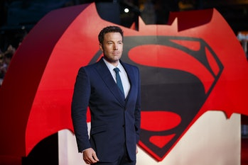 LONDON, UNITED KINGDOM - MARCH 22: Ben Affleck attending 'Batman v Superman: Dawn of Justice' Europe...