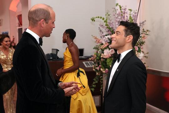 Rami Malek has met Prince William and Kate Middleton.