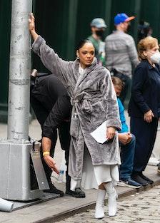 "Tessa Thompson is seen filming ""Westworld"" in SoHo"