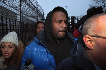 CHICAGO, ILLINOIS - FEBRUARY 25: R&B singer R. Kelly leaves the Cook County jail after posting $100 ...