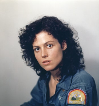 American actress Sigourney Weaver on the set of Alien, directed by Ridley Scott. (Photo by Sunset Bo...