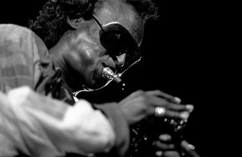 American jazz trumpeter Miles Davis performs at the North Sea Jazz festival, The Hague, Netherlands ...