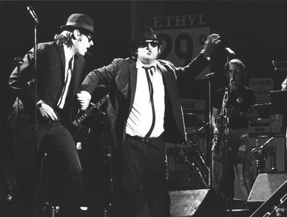Dan Aykroyd and John Belushi of the Blues Brothers, 1980  (Photo by Chris Walter/WireImage)