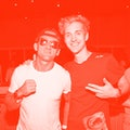 NEW YORK, NY - AUGUST 09: Casey Neistat (L) and Ninja attend After Unpacked: An Evening For The Rest...