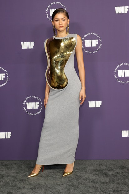 LOS ANGELES, CALIFORNIA - OCTOBER 06: Zendaya attends Women in Film's Annual Award Ceremony at The A...