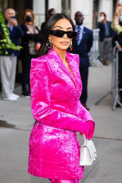 Kim Kardashian is seen in Midtown on October 07, 2021 in New York City