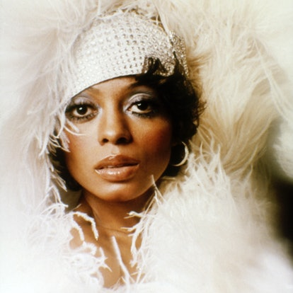 American soul singer and actress Diana Ross on the set of Mahogany, directed by Berry Gordy. (Photo ...