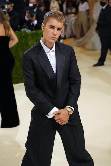 NEW YORK, NEW YORK - SEPTEMBER 13: Justin Bieber attends 2021 Costume Institute Benefit - In America...