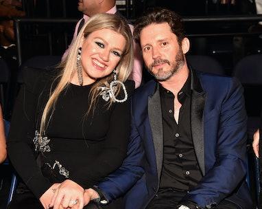 NASHVILLE, TN - JUNE 06:  Kelly Clarkson and Brandon Blackstock attend the 2018 CMT Music Awards at ...