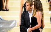 NEW YORK, NEW YORK - SEPTEMBER 13: Singer Justin Bieber (L) and model Hailey Baldwin attend the 2021...