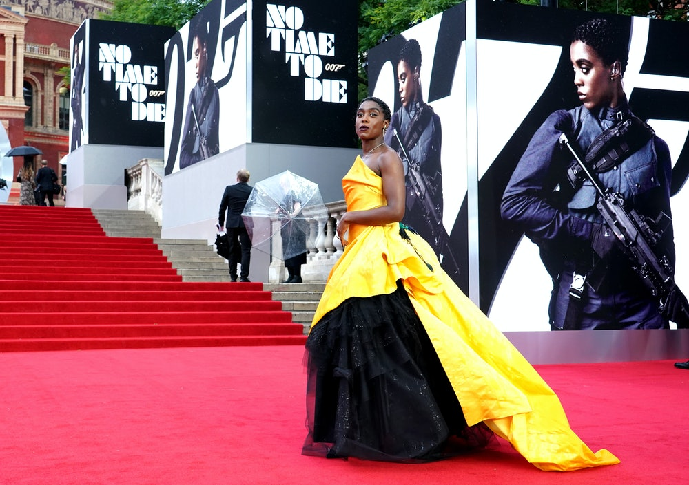 Lashana Lynch attending the World Premiere of No Time To Die, at the Royal Albert Hall in London. Pi...