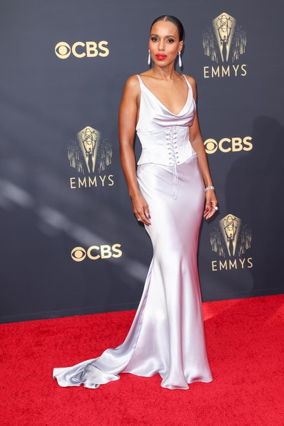 LOS ANGELES, CA - SEPTEMBER 19: Kerry Washington attends the 73rd Primetime Emmy Awards at LA Live ...