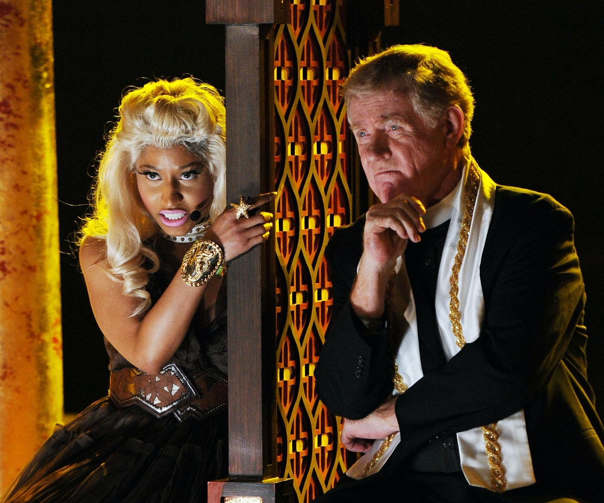 LOS ANGELES, CA - FEBRUARY 12:  Rapper/singer Nicki Minaj performs onstage at the 54th Annual GRAMMY...