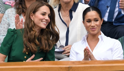 Kate Middleton and Meghan Markle at the Wimbledon Tennis Championships.