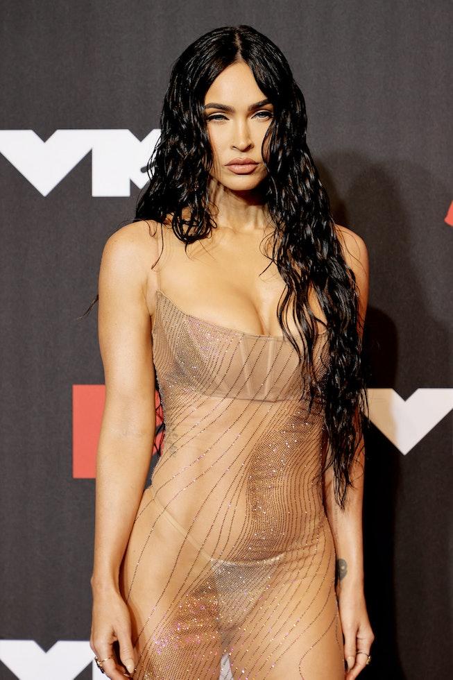 NEW YORK, NEW YORK - SEPTEMBER 12: Megan Fox attends the 2021 MTV Video Music Awards at Barclays Cen...
