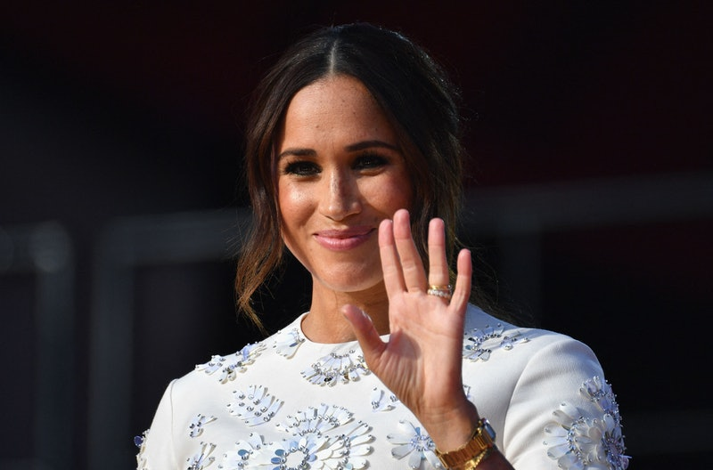 Duchess of Sussex Meghan Markle speaks during the 2021 Global Citizen Live festival at the Great Law...