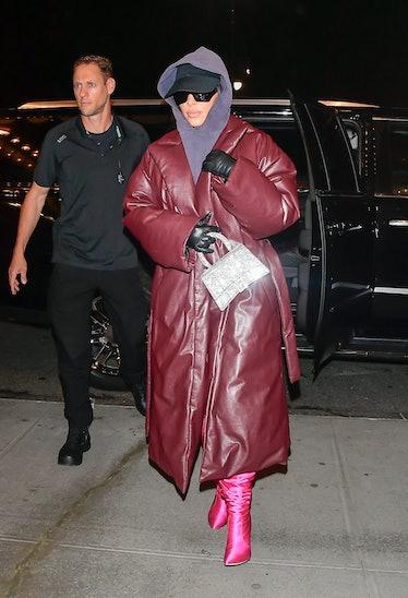 Kim Kardashian is seen walking in Midtown