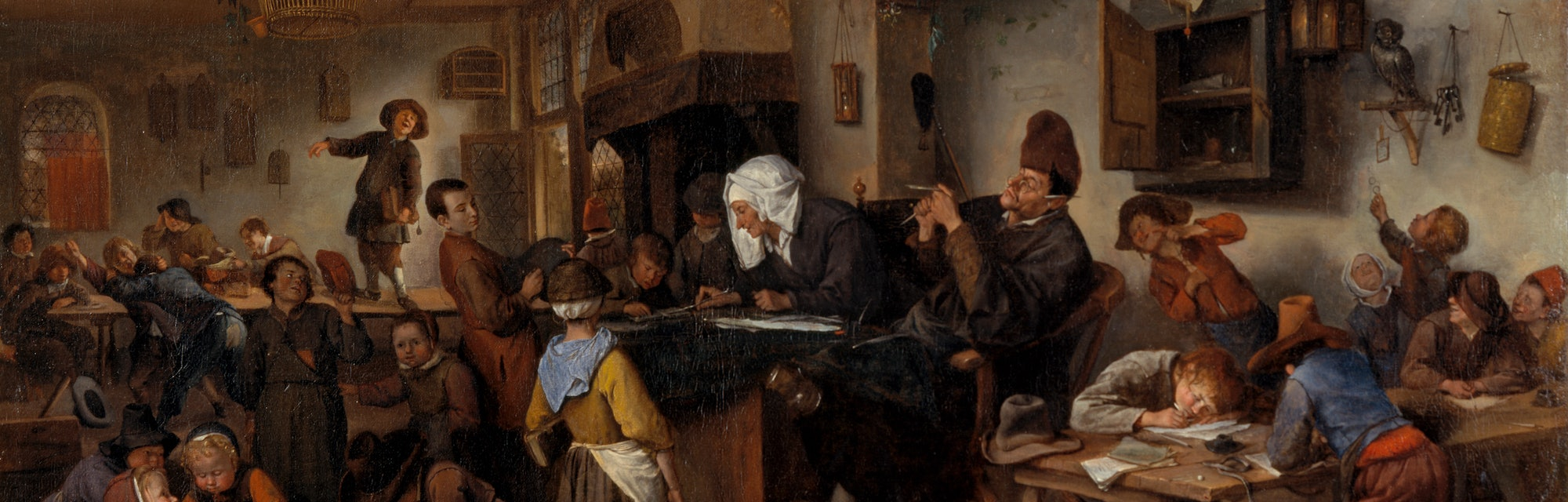 A School for Boys and Girls, by Jan Steen, 1670. Oil on canvas. Purchased by Private Treaty with the...