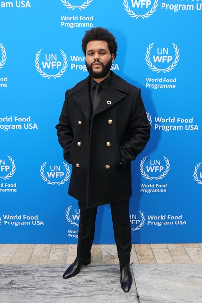 The Weeknd attends the U.N. World Food Programme as it welcomes The Weeknd as a Goodwill Ambassador