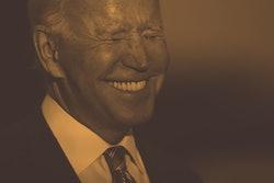 WASHINGTON, DC - OCTOBER 05: U.S. President Joe Biden briefly speaks to reporters about his Build Ba...