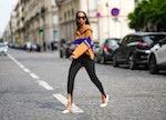 PARIS, FRANCE - SEPTEMBER 19: Emilie Joseph @in_fashionwetrust wears black sunglasses, silver and go...