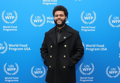 WEST HOLLYWOOD, CALIFORNIA - OCTOBER 07: The Weeknd attends the U.N. World Food Programme as it welc...