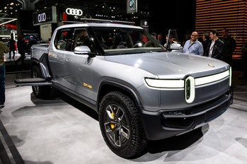 NEW YORK, NY, UNITED STATES - 2019/04/17: Rivian R1T seen at the New York International Auto Show at...