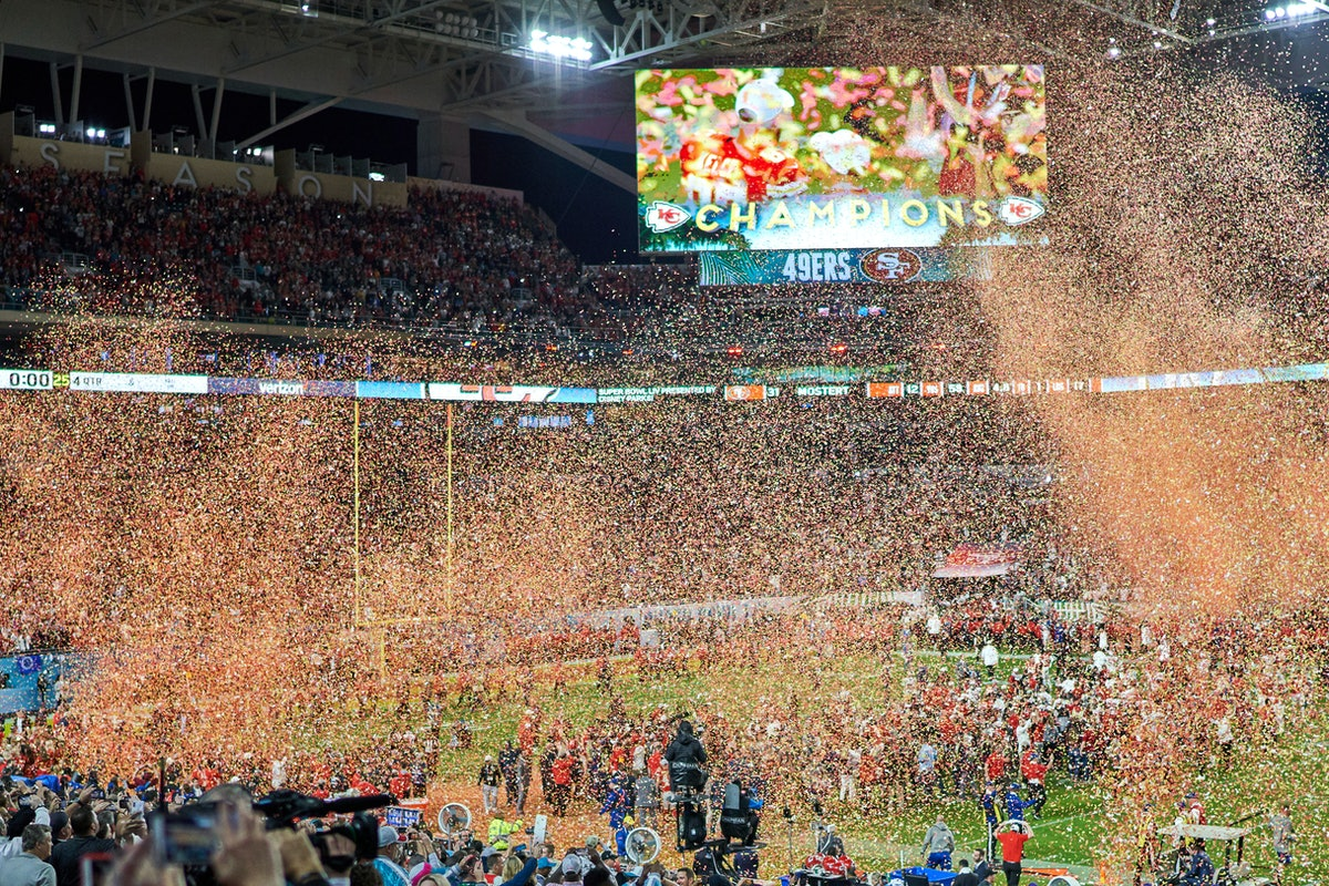 The Super Bowl typically lasts almost four hours.
