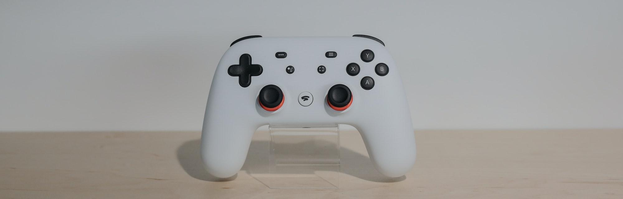 Google Stadia gaming controller.
