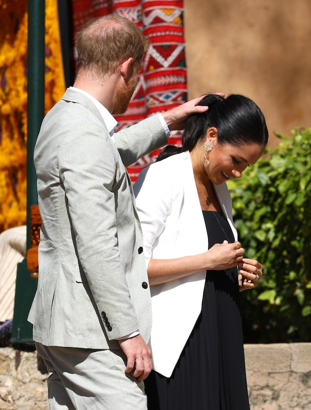 Prince Harry in Morocco with Meghan Markle in 2019.