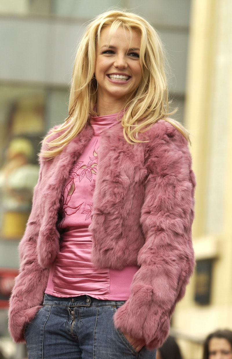 Britney Spears receives a star on the Hollywood Walk of Fame in 2003. Photo via Getty Images