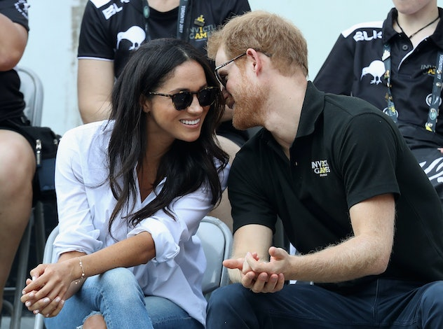 Prince Harry and Meghan Markle at the Invictus Games in 2017.