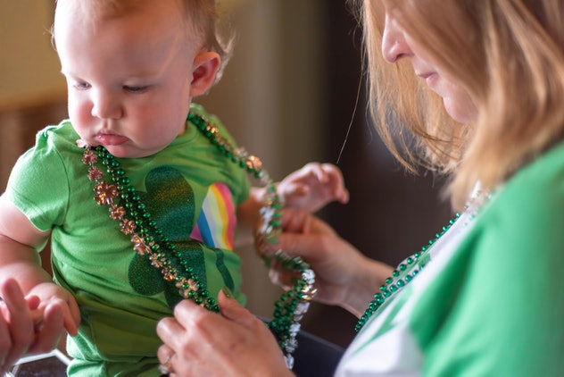 baby dressed up for st patrick's day