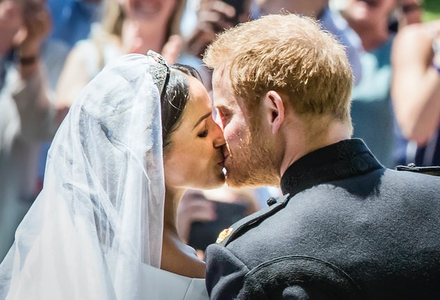 Prince Harry and Meghan Markle's wedding day 2018.