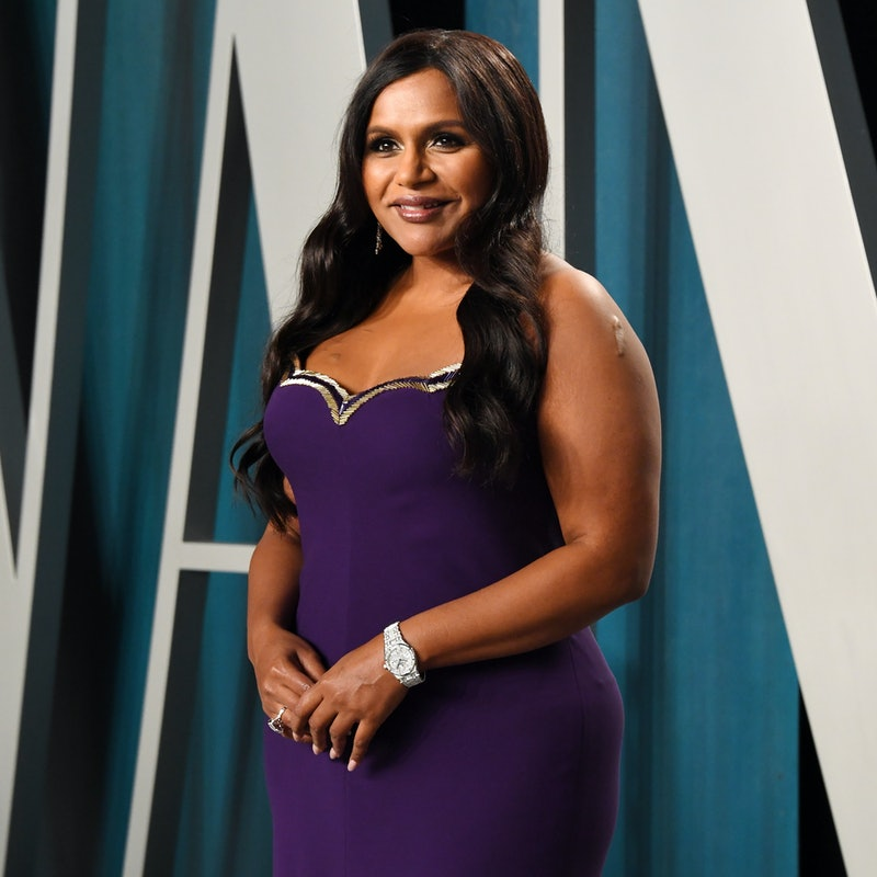 Mindy Kaling at the 2020 Vanity Fair Oscars after party. Photo via Getty Images