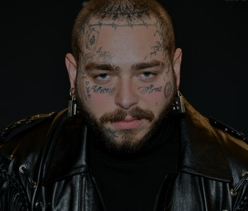 Rapper Post Malone is seen on the red carpet.