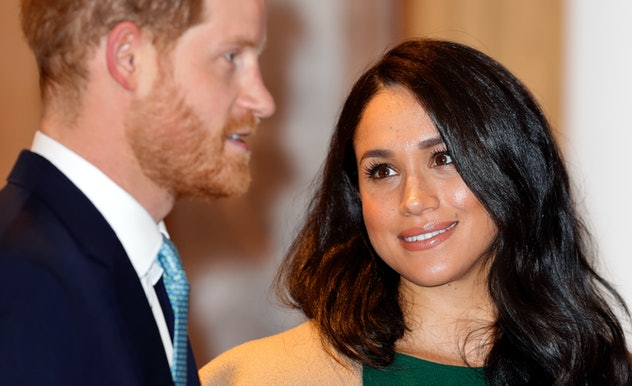 Meghan Markle with Prince Harry in 2019.