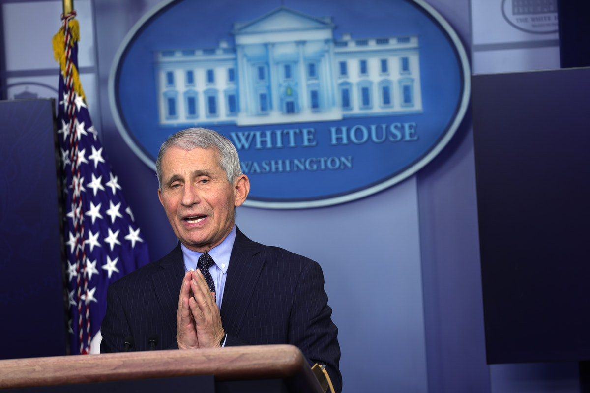 Dr. Fauci speaks at the White House.