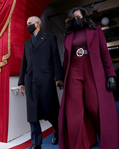 Michelle Obama wearing Sergio Hudson to the 2021 Inauguration.