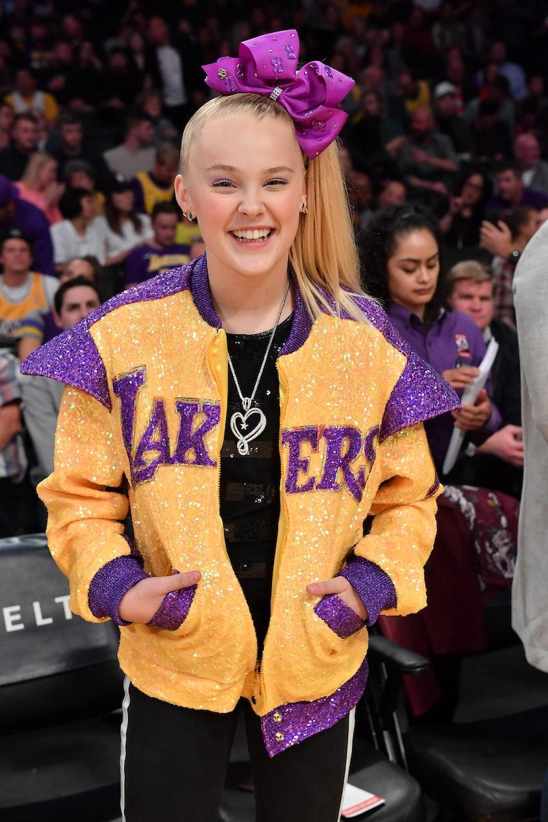 JoJo Siwa at a Lakers basketball game