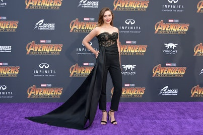 Elizabeth Olsen at the 2018 premiere of Avengers: Infinity War